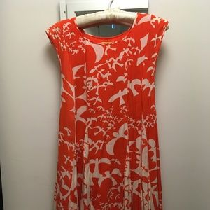 Maeve Anthropologie Bird Print Summer Dress XS